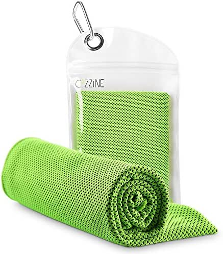 """Cozzine Yoga Towel 40""""x12"""", Cooling Towel for Instant Relief -Ultra Soft Breathable Fabric Chilling Neck Wrap Headband Sports Towel for Running, Biking, Gym, Yoga, Travel, Golf, Tennis & More"""