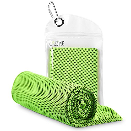"Cozzine Yoga Towel forty""x12"", Cooling Towel for Instant Relief -Extremely Soft Breathable Fabric Chilling Neck Wrap Headband Sports Towel for Running, Biking, Fitness center, Yoga, Journey, Golf, Tennis & More – DiZiSports Store"