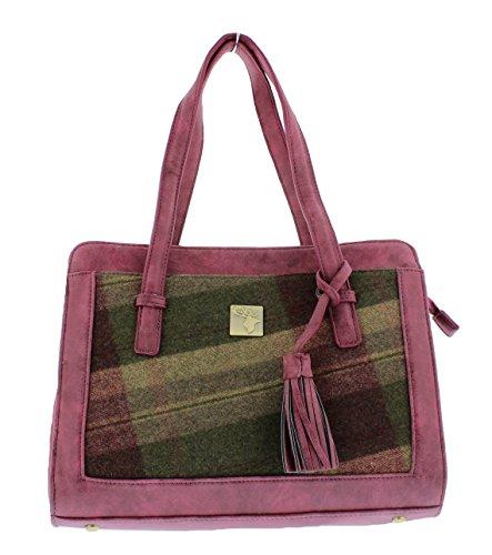 'House Burgundy Tweed' Green Handbag Tassel 'House of of 8Bzn1wnSq