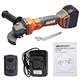 """BHTOP Cordless Angle Grinder Lithium Ion-powered 20Volt Charger Brushless (4.0 Ah Battery and Charger Included) (4.0"""")"""