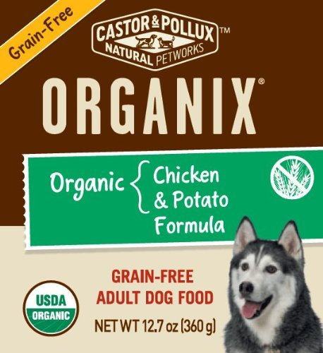 Castor and Pollux Organix Canine Grain Free Dog Food, Organic Chicken and Potato, 12.7 Ounce (Pack of 12), My Pet Supplies