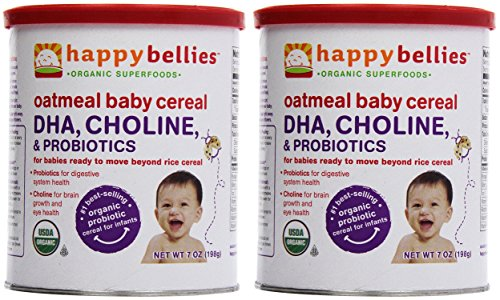Happy Household happy bellies Baby Cereal - Oatmeal - 7 Oz- Pack of 2