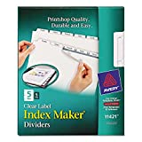 AVE11421 UNITED STATIONERS (OP) INDEX,COPIER,5TAB,5ST/PK