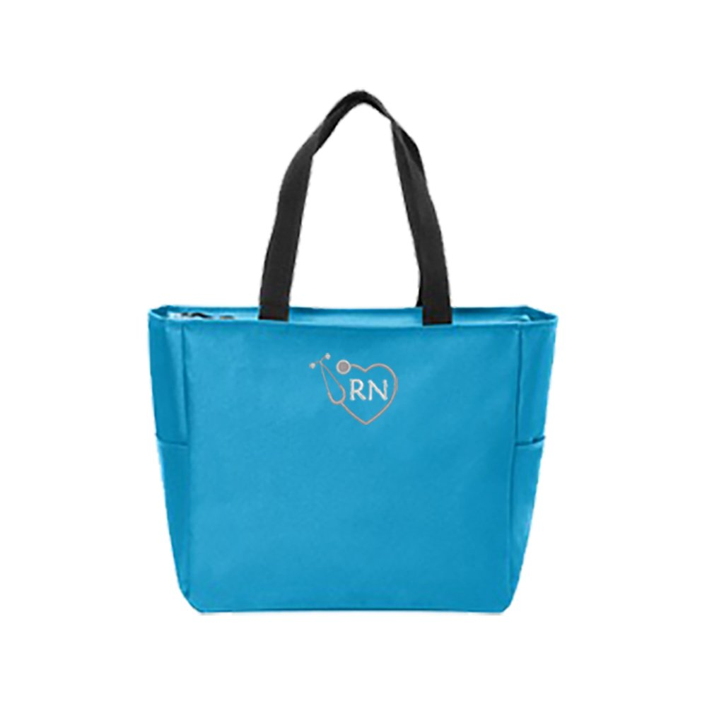 RN Nurse Tote Bag | Gift for Nurse (Turquoise)