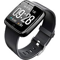 KOSCHEAL Smart Watch Pulsera Fitband,1.3inch Pantalla Grande Fitness Tracker, con Pantalla Meteorológica, Modos Deportivos Múltiples, Notificaciones de Mensajería y Llamadas, Monitor de Ritmo Cardiaco, Monitor De Presión Arterial,Rejol Inteligente Deportivo para Hombre y Mujer