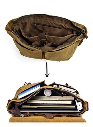 Yiy body Green Over Army 16928 1 Leather Cross Bag Canvas Men's Shoulder Vintage Messenger Man Bag 4qwr4Uv