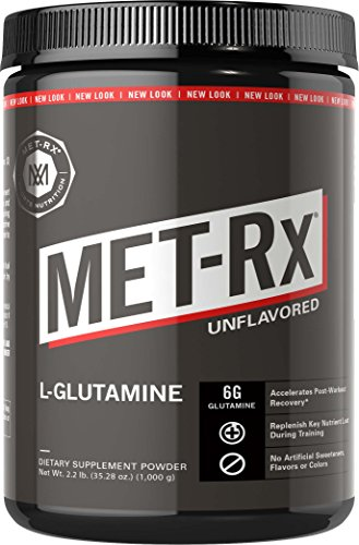 MET-Rx L-Glutamine Powder, 1000g, Post-Workout Amino Acid Nutritional Supplement, Add to Workout Recovery Protein Shakes & Nutritional Shakes
