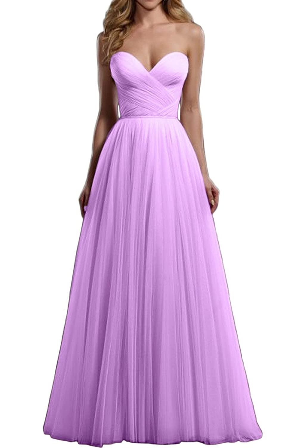 Gorgeous Bride Long A-line Sweetheart Beaded Sash Wedding Party Evening Dress