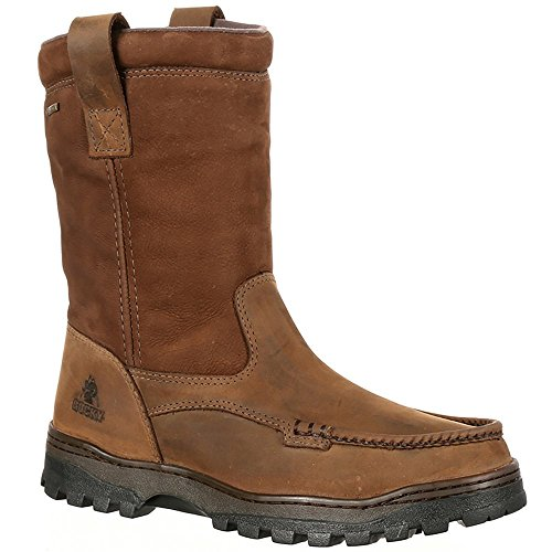 Wellington Rocky Mens (Rocky Men's Outback Gore-tex Waterproof Wellington Outdoor Boots, Brown, 14 W)