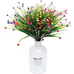 WELL LOVE Artificial Flower 6 Bundles Home Greenery Kitchen Wedding Party Garden Festival Office Indoor Outside UV Resistant Hanging Planter Arch DIY Craft Art Decor Gypsophila Mix Color Gift Set