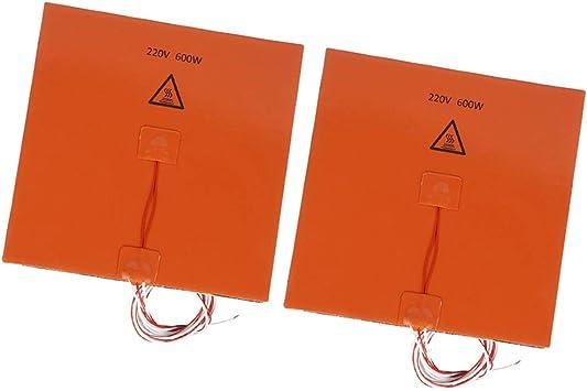 Gazechimp 2Pcs / Set 200x200mm 220V 600W Cama Calefactora ...