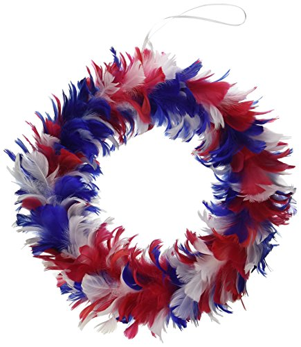 Feather Wreath white Party Accessory