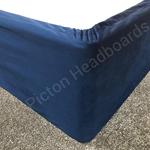 ELASTICATED BED VALANCE DIVAN BASE COVER BED WRAP CRUSHED /& PLUSH VELVET GB