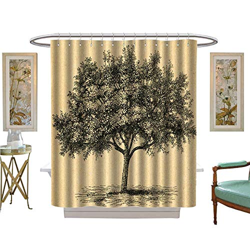 Botanika Collection - luvoluxhome Shower Curtain Collection by Bloom Apple Tree by Unknown Artist from botanika Satin Fabric Sets Bathroom W72 x L84