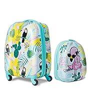 DREAMADE 2tlg. Kinderkoffer mit Rucksack, Koffer Set Kinder Koffer, Kindertrolley Kindergepäck Handgepäck für Mädchen…