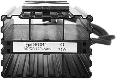 Keenso Ptc Heizelement Schaltschrankheizung Hg040 75w 120 240v Aluminium Konstante Temperatur Ptc Schaltschrankheizung Luftheizung Thermostatheizung Für Industrieanlagen Beleuchtung