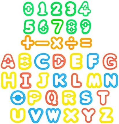 YeahiBaby 子供のための盛り合わせ手紙番号生地粘土ツール型セットカラフルな粘土DIY 41ピース