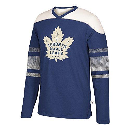adidas NHL Toronto Maple Leafs Mens Ccm L/S Applique Crewccm L/S Applique Crew, Dark Blue, X-Large