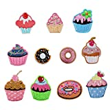 11pcs Cartoon Cake Applique Embroidery Clothing Accessories Iron on Patch for Crafts Jeans Clothing Kids Sew on Dress Jacket Backpack Scarf Cushion Applique