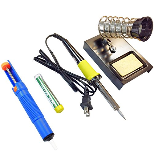 30W Soldering Iron Set (TL-ZS-BP9301): De-soldering Pump, Stand, Additional Solder