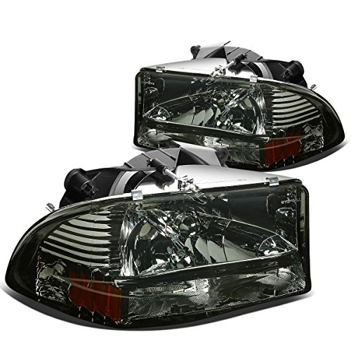 DNA MOTORING HL-DDUR97-SM-AM Headlight Assembly, Driver & Passenger Side, Smoke Lens Amber -