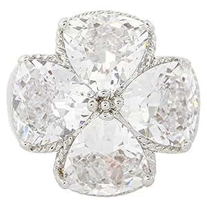 Giro Woman's Alloy White Flower Stone Ring - G0066-18 mm