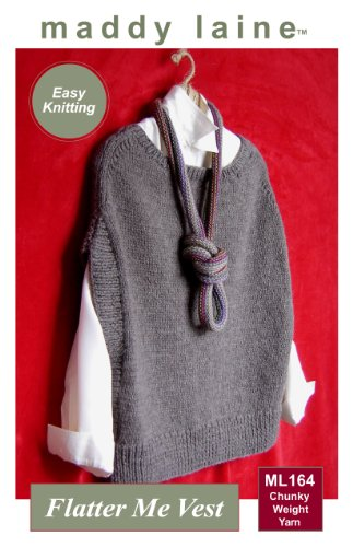Amazon Maddy Laine Knitting Pattern Ml164 Flatter Me Vest