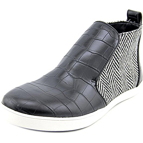 Circus Door Sam Edelman Dames Jadyn Fashion Sneaker Zwart / Zwart / Wit Chevron