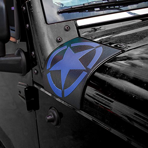 Cowl Body Armor Cover Sport Exterior Accessories Parts for Jeep Wrangler Rubicon Sahara JK /& Unlimited 2007-2017 Red