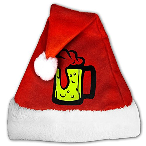Glas Santa (JDEJF Bier Glas F2 Christmas Santa Hat Holiday Costume Classic Hats Supplies For Adults And Children Small)
