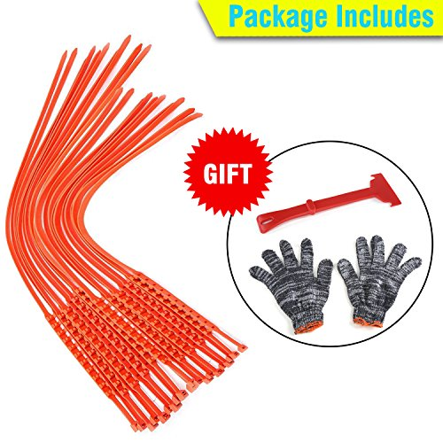 GAMPRO Anti-skid Chains 10 Pcs, Portable Emergency Traction Aid Anti-slip Snow Mud Sand Tire Chains Most Car SUV Van ATV etc. Comes Free Shovel Gloves(10 Pcs) by GAMPRO (Image #6)