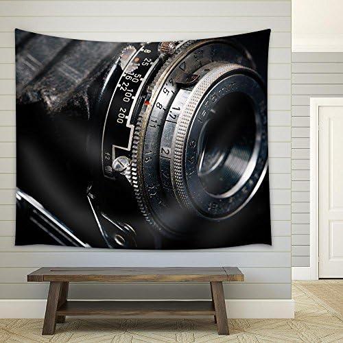A Retro Camera Lens Close Up Fabric Wall