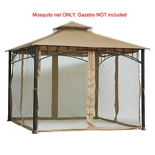 Home and Garden HGC 7 ft. Velcro Straps Mosquito Net for 10W x 10D ft. Gazebo