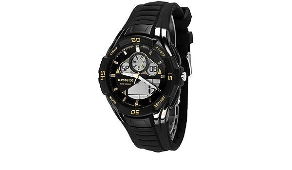 Multifuncional LCD/analógico Deportivo Reloj Xonix,Resistente al agua 100M para Hombres y Juventud, XMAM/3: Amazon.es: Relojes