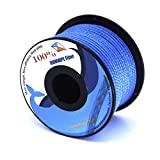 emma kites UHMWPE Braided Cord High Strength Least Stretch Tent Tarp Rain Fly Guyline Hammock Ridgeline Suspension for Camping Hiking Backpacking Survival Recreational Marine Outdoors 100Ft 1000Lb