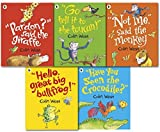 img - for Colin Wests Jungle Collection 5 Books-bedtime stories-Hello Great Big Bullfrog, Not Me Said The Monkey, Pardon Said The Giraffe, Go Tell It to the Toucan, Have You Seen the Crocodile by Colin Wests (2015-08-06) book / textbook / text book