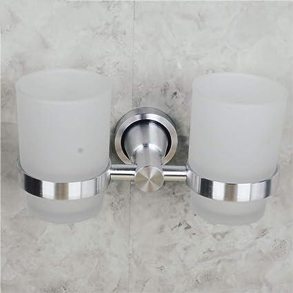 GZF Titular de Cepillo de Dientes Portacepillos de cepillos de dientes brillante cepillado espacio de aluminio