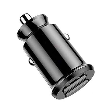 Adaptador de coche Doble puerto Mini cargador de coche USB ...
