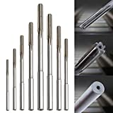 Ginode 8Pcs 4 Flute Straight End Mill Cutter Tool 3/4/5/6/7/8/9/10mm HSS Chucking Machine Reamer with 10Pcs End Mill Bits 1.5-10mm CNC Router Bits Cutting Milling Tools for Wood, Aluminum, Steel