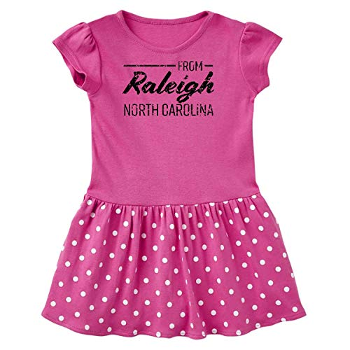 inktastic from Raleigh North Toddler Dress 5/6 Raspberry with Polka Dots