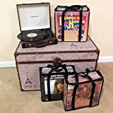 Evelots LP Vinyl Record Case-Storage-Carry 108