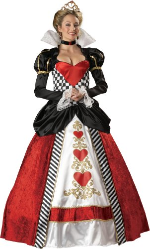 InCharacter Women's Queen Of Hearts Costume, Red/White/Black, Medium