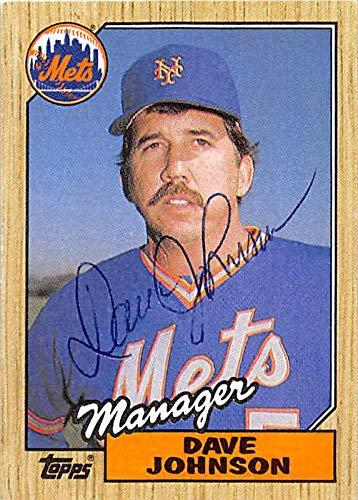 Davey Johnson autographed baseball card (New York Mets) 1987 Topps #543 Ball Point