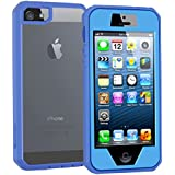 iPhone 5 Case,Slim Translucent Impact Resistant Flexible Shockproof Bumper and Anti-Scratch Protective Case Cover for Apple iPhone 5 5S (Blue)