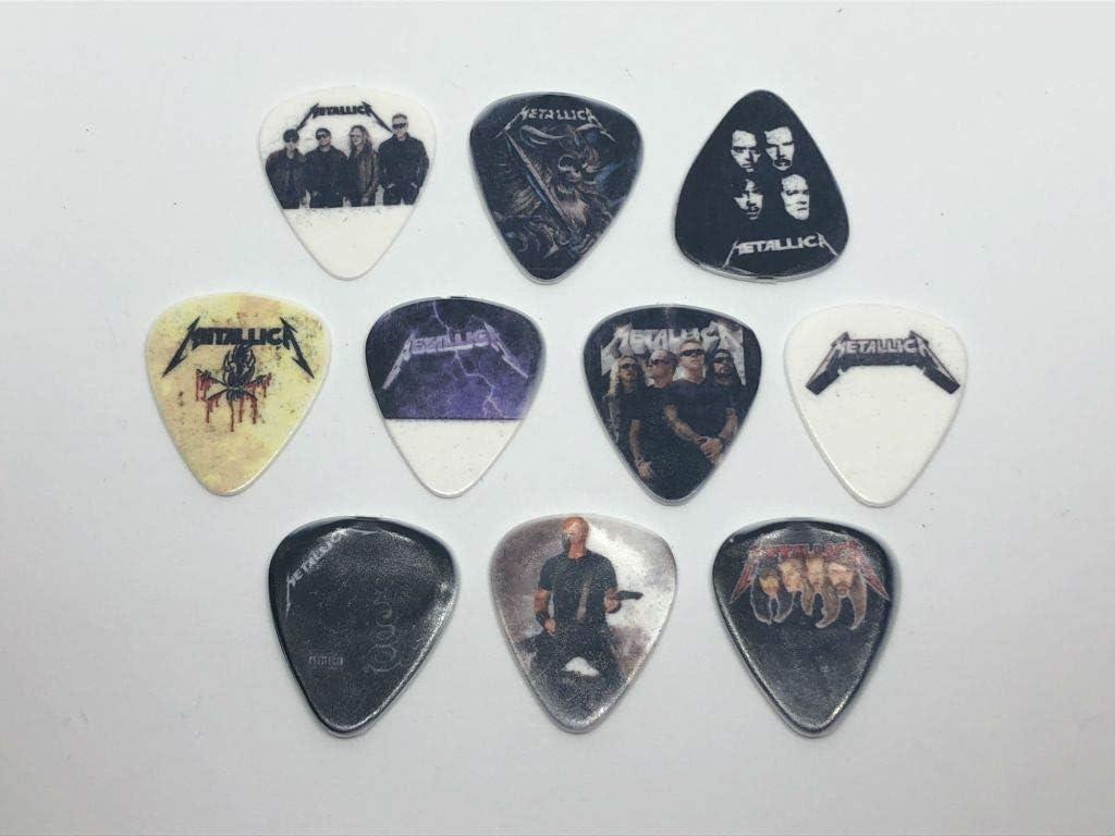 Juego de púas para guitarra Metallica (10 púas/10 diseños ...