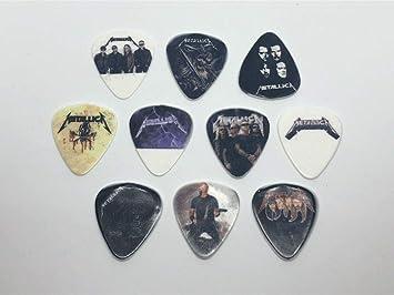 Juego de púas para guitarra Metallica (10 púas/10 diseños diferentes): Amazon.es: Instrumentos musicales