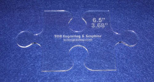 Small Puzzle Template - Clear 1/8 - Applique TCR Engraving & Graphics qtspz1