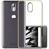 (Pack of 2) Pinaaki Soft Silicone Crystal Clear Transparent Soft Back Case Cover For Micromax Canvas Evok E483