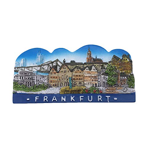 Frankfurt Germany 3D Refrigerator Magnet Tourist Souvenirs Resin Magnetic Stickers Fridge Magnet Home & Kitchen Decoration from China