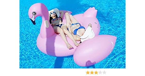Zhen Qi Flamenco hinchable Inflable Pool Float Giant tamaño ...